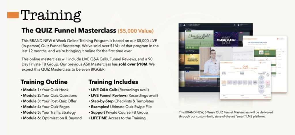 QuizFunnel Masterclass Review