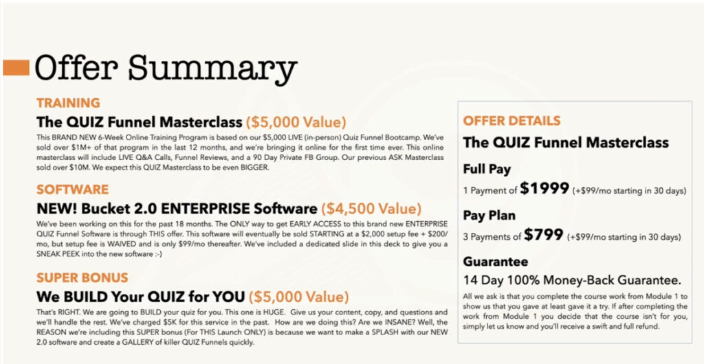 QuizFunnels Cost